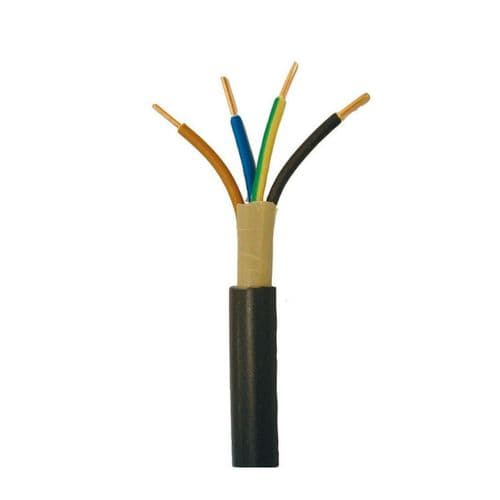 100 Meter Black Enviro-tuff 1.5mm 4 Core Firestrand Cable