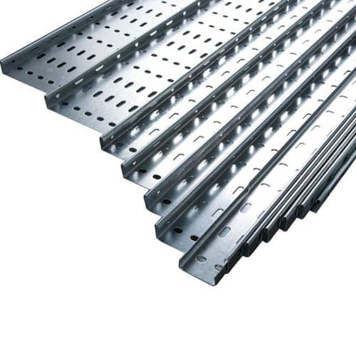"3m Unistrut Return Flange Cable Tray 100mm 4"" x 3m Medium Duty"