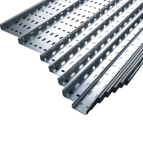 "3m Unistrut Return Flange Cable Tray 600mm 24"" x 3m Medium Duty"