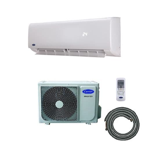 Carrier EasyFit Wall Mounted Air Conditioning Inverter Heat Pump Kit (7Kw / 24000btu) 240V~50Hz