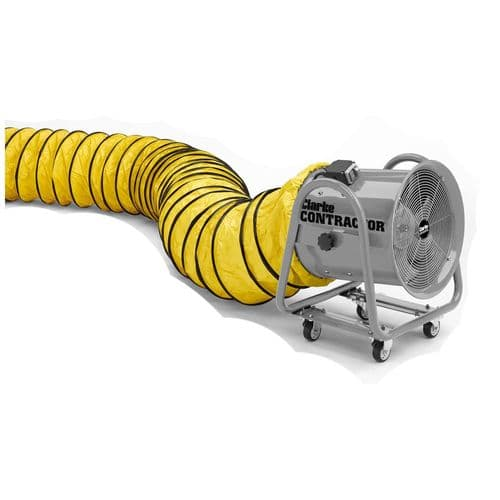 Clarke 3230286 20 Flexible PVC Duct for Contractor CON500 Ventilation Fans - Yellow