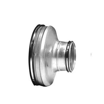 Lindab Safe Fitting RCU Concentric Short Pressed Reducer + Rubber Seal Spiral 80mm To 250mm