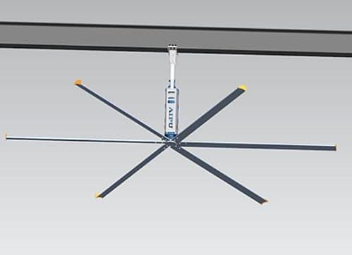 Aipukeji Industrial HVLS Ceiling Fan AWF-6-28 2.8 metre / 9Ft 6 Blade 2500M3/MIN 240V~50Hz
