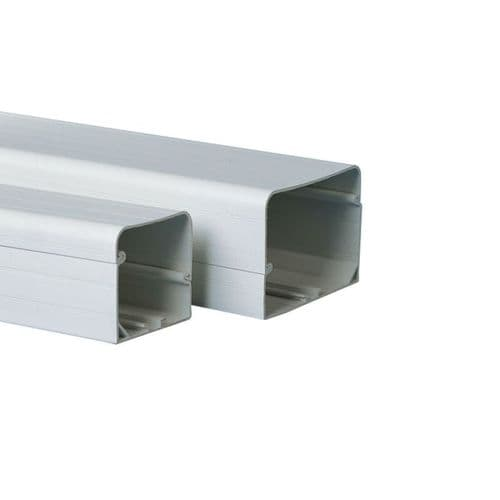 "BBJ D105 Professional Speedi-Duct 105mm 4"" Duct Trunking 2m Length Depth 105mm"