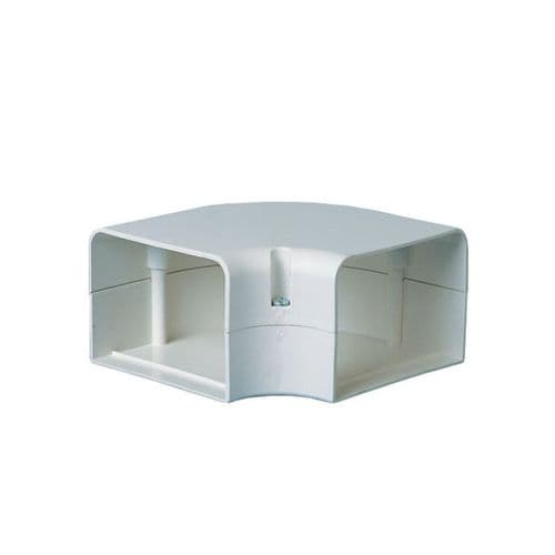 "BBJ FB-70 Professional Speedi-Duct 70mm 3"" Duct Trunking Flat Bend"