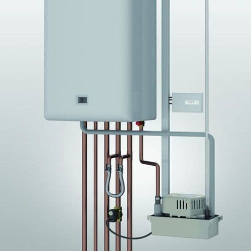 """Boiler Condensate Pump And Pressure Release Valve Water With 5 Metres Of 3/8"""" ID Flexible Hose 240V~50Hz"""