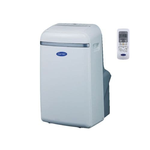Carrier 51QPD012N7S Portable Air Conditioner 3.3Kw/12000Btu Cooling And Remote 240V~50Hz
