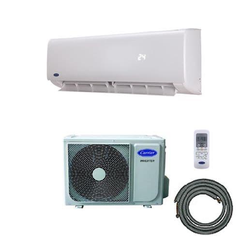Carrier EasyFit Wall Mounted Air Conditioning Inverter Heat Pump Kit (3.5Kw / 12000btu) 240V~50Hz