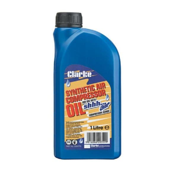 Clarke 3050795 Specially Formulated Synthetic Oil 1 Litre For ShhhAir Air Compressors