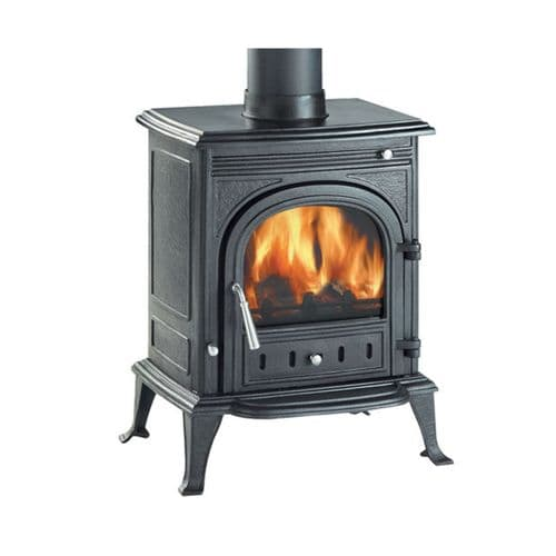 Clarke 6909900 Pembroke Black Cast Iron Wood & Coal Burning Stove 40000Btu/12Kw