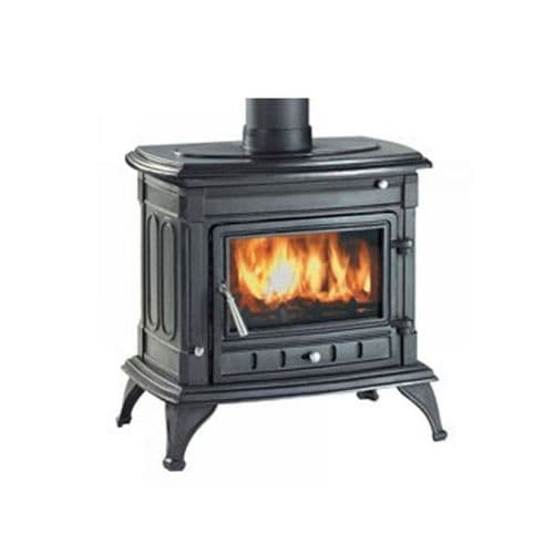 Clarke 6909905 Majestic Black Cast Iron Wood & Coal Burning Stove 44000Btu/13Kw