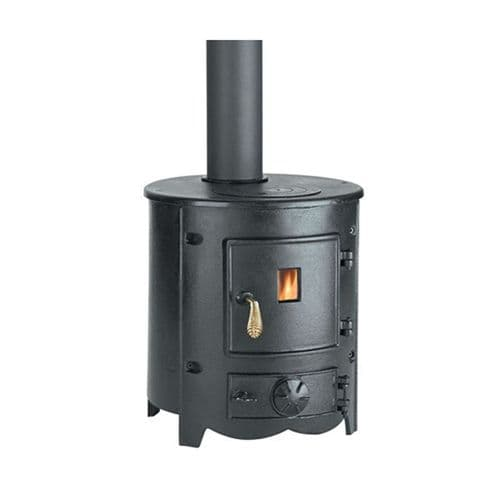 Clarke 6910101 Barrel II Black Cast Iron Wood & Coal Burning Stove 27000Btu/8Kw