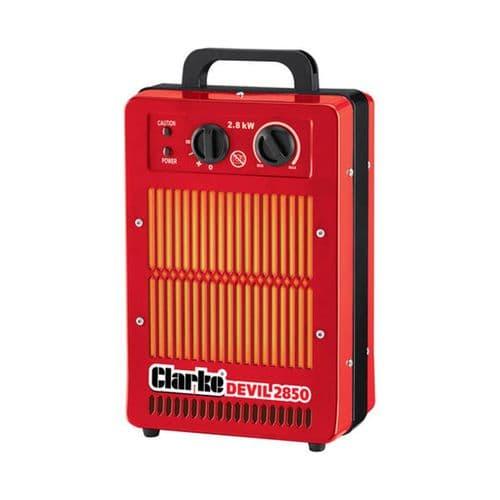 Clarke Devil 2850 Portable Electric Fan Heater 2.8kW /10000Btu 240V~50Hz