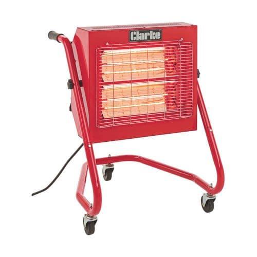 Clarke Devil 370SPC Quartz Radiant Halogen Infrared Heater 3Kw / 12000Btu 240V~50Hz
