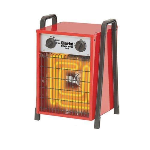 Clarke Devil 6003 Commercial Electric Fan Heater 3kW /11000Btu 240V~50Hz