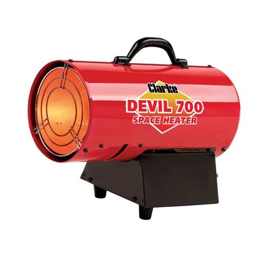 Clarke Devil 700 Propane Fired Space Heater 14.6kW 50,000 BTU 240V~50Hz