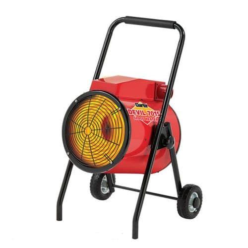Clarke Devil 7015 Commercial  Industrial Electric Fan Heater 15kW /50000Btu 415V~50Hz