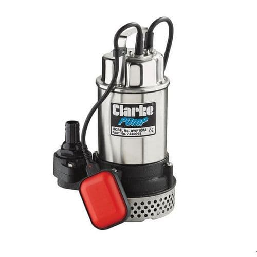 """Clarke DWP150A 1.5"""" Submersible Dirty Water Pump With Float Switch 250 Litres/Min 240V~50Hz"""