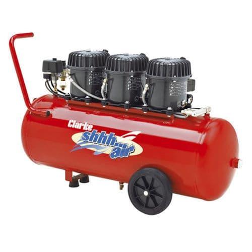 Clarke ShhhAir150/100 Quiet Run Compressor 150 Ltrs / Min With 100 Litre Air Receiver 240V~50Hz