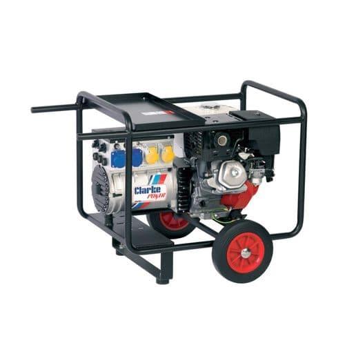 Clarke WH215 Honda Petrol Engine Driven Welder Generator 6.5kVA 240V/110V
