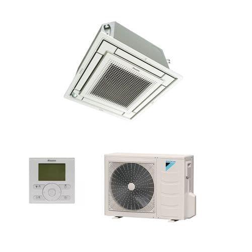 Daikin Air Conditioning FFA35A9 Flat Cassette 600x600 Heat Pump 3.5Kw/12000Btu R32 A++ 240V~50Hz