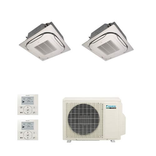 Daikin Air conditioning Multi 2MXS50H Heat Pump Inverter 2 x FCQG35F Standard Cassette A+++ 240V~50Hz