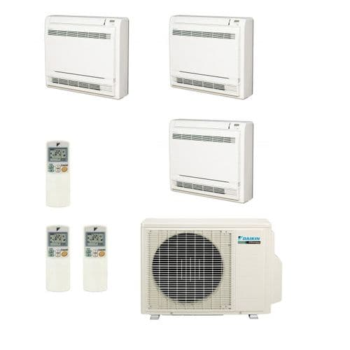Daikin Air conditioning Multi 3MXS52E Heat Pump Inverter 3 x FVXS25F (2.5Kw/9000Btu) Floor/Console A+++ 240V~50Hz