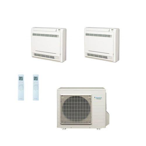 Daikin Air conditioning Multi 4MXS80E Heat Pump Inverter 2 x FVXS50F (5Kw17000Btu) Floor/Console A+ 240V~50Hz