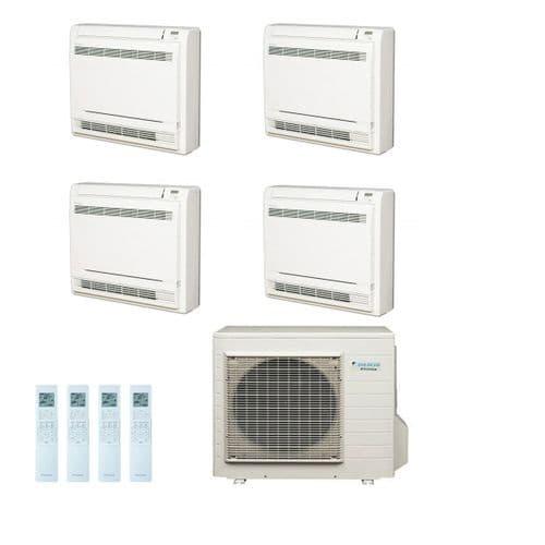 Daikin Air conditioning Multi 4MXS80E Heat Pump Inverter 4 x FVXS25F (2.5Kw/9000Btu) Floor/Console A+ 240V~50Hz