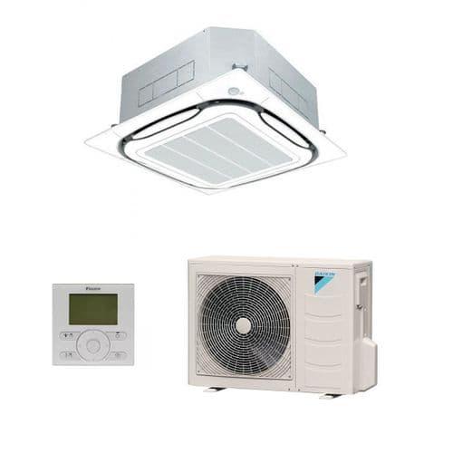 Daikin Air Conditioning Roundflow Cassette Inverter Heat Pump FCAG A++