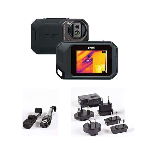 FLIR Thermal Imaging Camera 72001-0101 C2 Budget Light Pocket-Sized 80 x 80 pixels -10 to +150°C