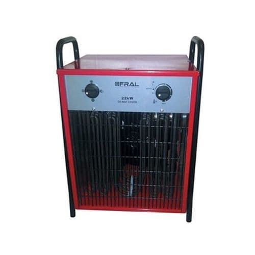Fral UK FEH220 Industrial Electric Fan Heater With Adjustable Thermostat (22kW  / 75000Btu) 415V~50Hz