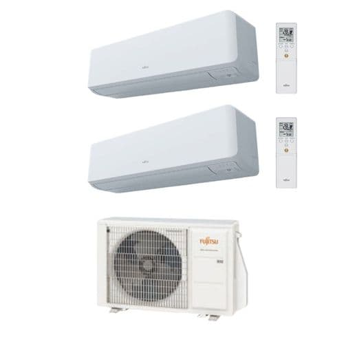 Fujitsu Air Conditioning AOYG18KBTA2 Heat Pump 1 x ASYG12KGTB 1 x ASYG14KGTB 3.5Kw + 4Kw R32 A+ Wall