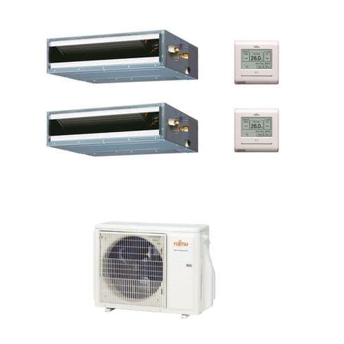 Fujitsu Air Conditioning AOYG18KBTA2 Multi 2 x ARXG09KLLAP 2.5Kw/9000Btu Ducted R32 A++ 240V~50Hz