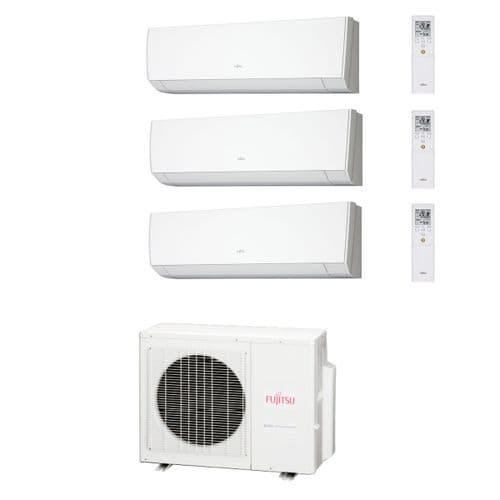 Fujitsu Air Conditioning AOYG24LAT3 Multi-Split Inverter Heat Pump 2 x ASYG12LMCA + x 1 ASYG07LMCA Wall Mounted 240V~50Hz