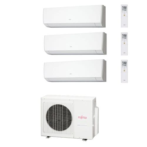 Fujitsu Air Conditioning AOYG24LAT3 Multi-Split Inverter Heat Pump 3 x ASYG12LMCA Wall Mounted 240V~50Hz