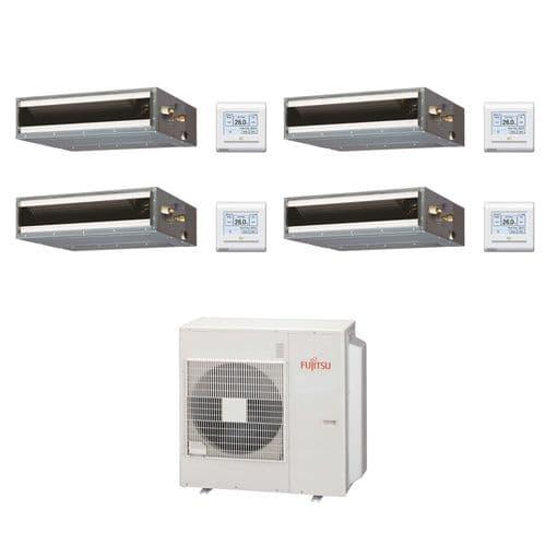 Fujitsu Air Conditioning AOYG30KBTA4 Multi 4 x ARXG07KLLAP 2Kw/7000Btu Ducted A++ R32 240V~50Hz