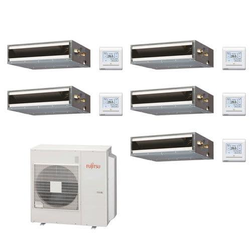 Fujitsu Air Conditioning AOYG36KBTA5 Multi 5 x ARXG07KLLAP 2Kw/7000Btu Ducted A++ R32 240V~50Hz