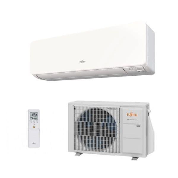 Fujitsu Air conditioning ASYG07KGTA Wall Mount Heat pump Inverter A+++ R32 2Kw/7000Btu Install Pack