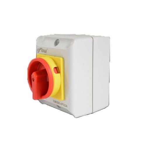 GFlow Rotary Isolator IP65 32 Amp 4 Pole