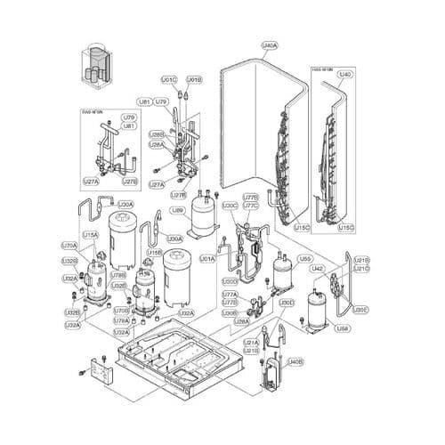 Hitachi Air Conditioning Spare Part 06931520 Compressor For VRF RAS