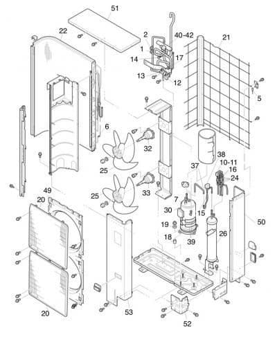 Hitachi Air Conditioning Spare Part E01163 Condensing Coil UTOPIA DC-INVERTER RAS-HRNE