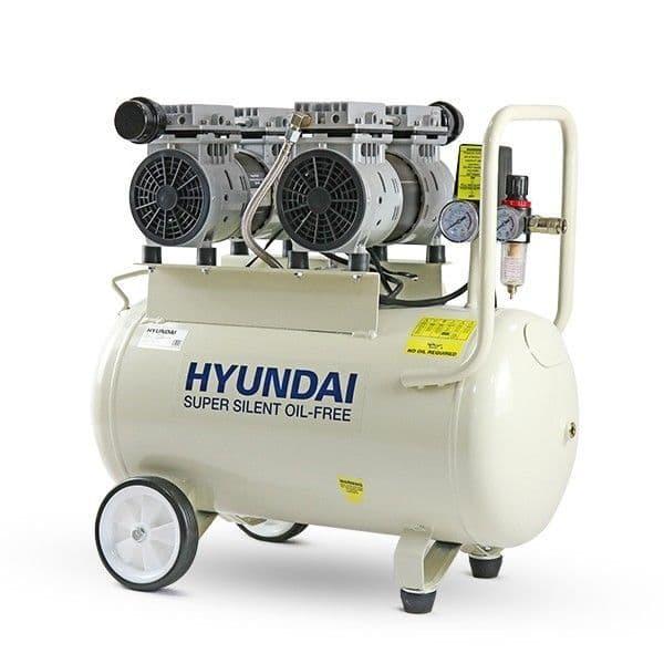 Hyundai Air Compressor HY27550 11CFM/100psi Oil Free Low Noise Electric 2hp 50 Litre