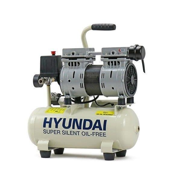 Hyundai Air Compressor HY5508 8 Litre 4CFM/118psi Silenced Oil Free Direct Drive 0.75hp