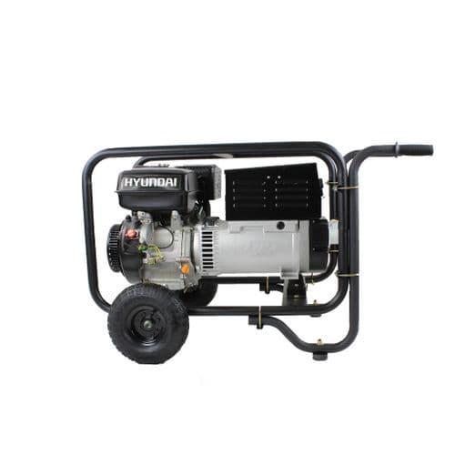 Hyundai HY220DC Hire Pro Recoil Start Site Petrol Welder Generator 5 Kw 220 Amp 115/230V~50Hz