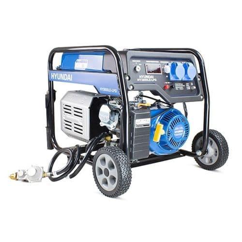 Hyundai HY3800LE-LPG 3.2kW / 4.00kVa Electric Start Dual Fuel Site Generator 240V~50Hz