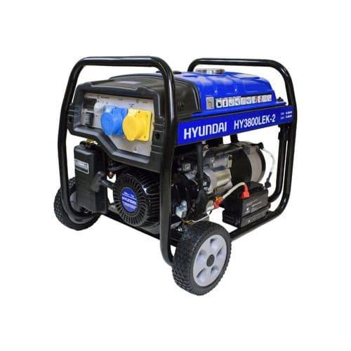 Hyundai HY3800LEK-2 3.2kW / 4.00kVa Electric Start Site Petrol Generator 110V/240V~50Hz