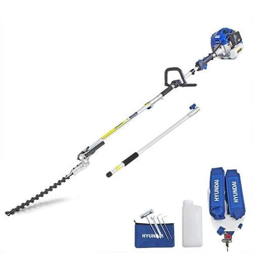 Hyundai HYPT5200X 52cc Long Reach Petrol Pole Hedge Trimmer/Pruner