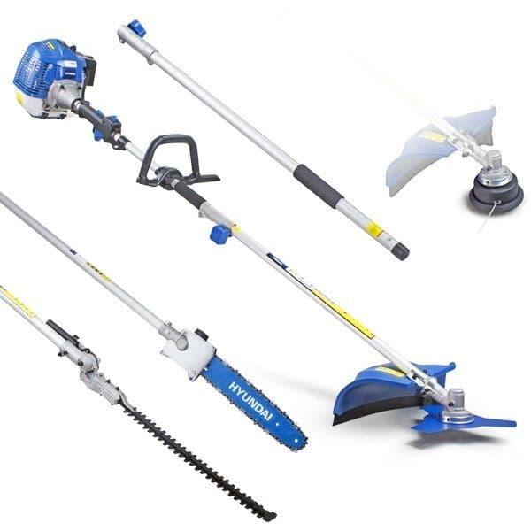 Hyundai Petrol Multi-Tool HYMT5200X 52cc Hedge Trimmer, Pole Saw / Chainsaw & Brush-cutter