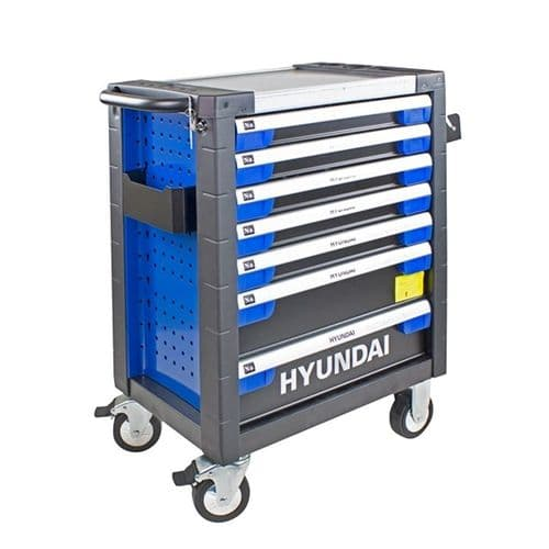 Hyundai Tool Chest Cabinet HYTC9003 305 Piece 7 Drawer Caster Mounted Rollers